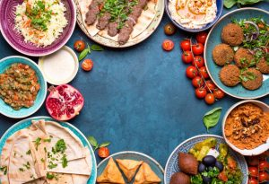 Various middle eastern dishes