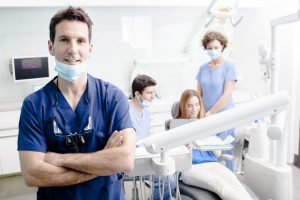 dentists working