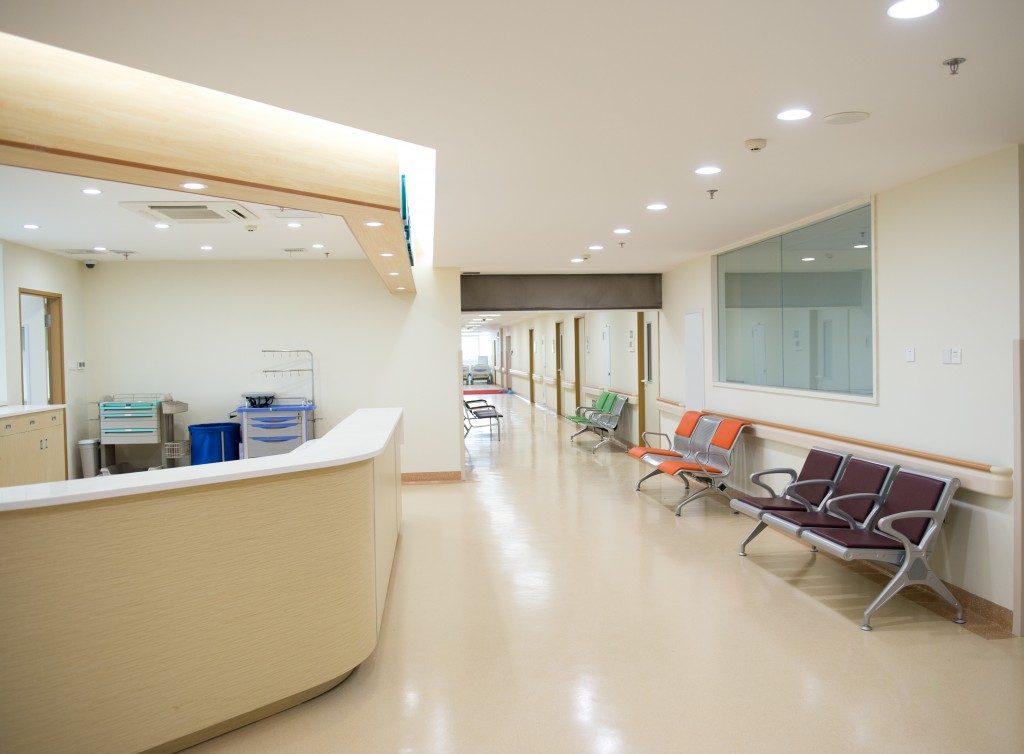 Nurse station in a hospital