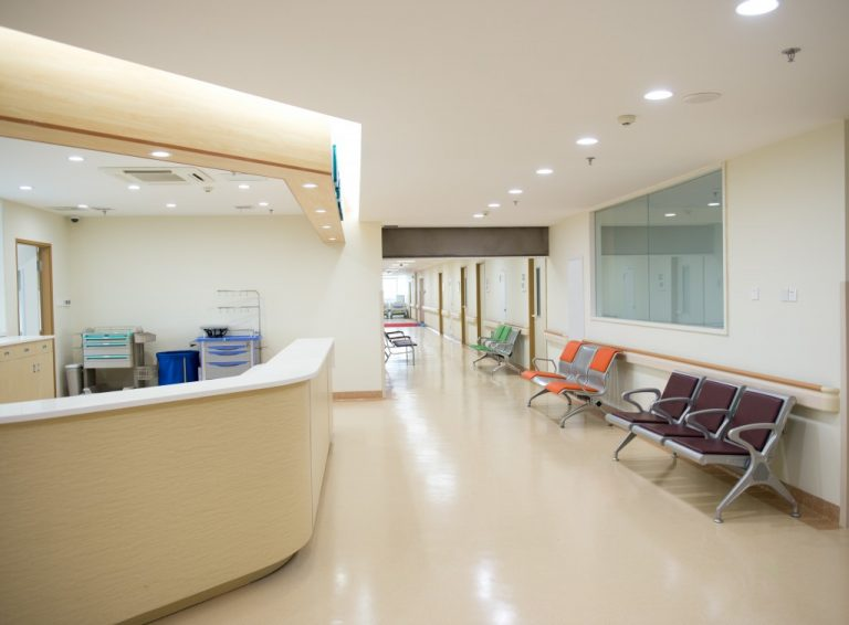 Nurse station in a hospital