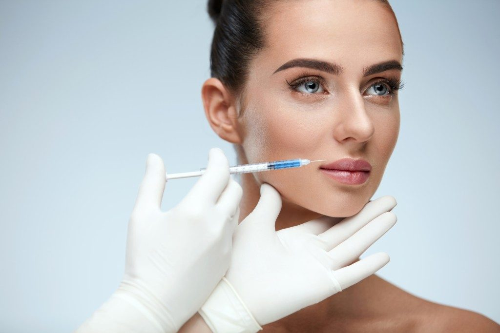 Woman getting botox