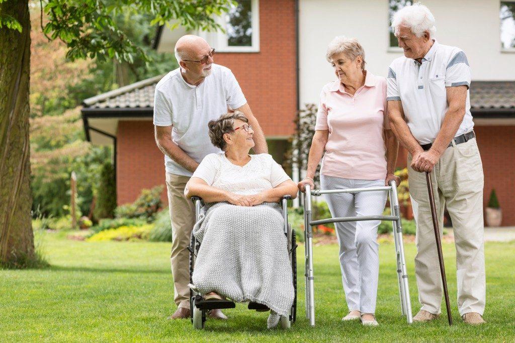 seniors in a senior care facility