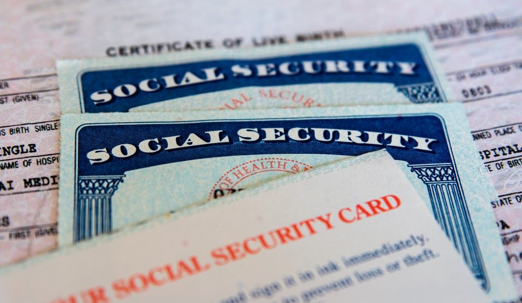 Social security cards with birth certificate
