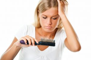 hair loss on a woman