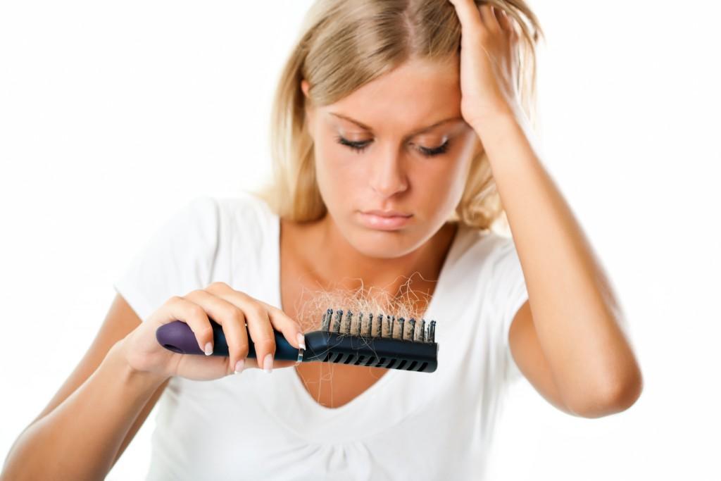 hair loss on a woman