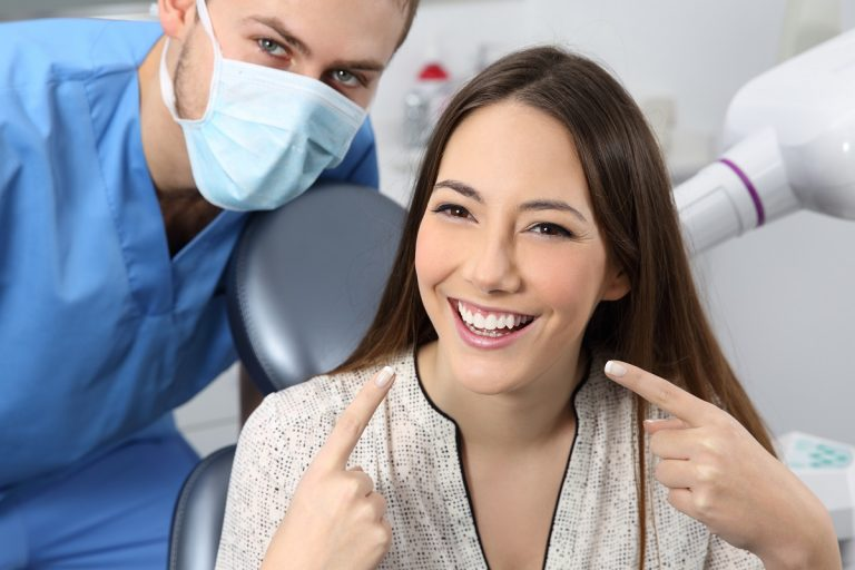 dentist and happy patient