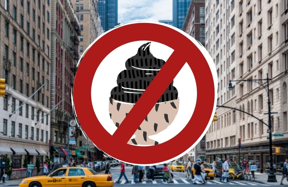 ban of charcoal ice cream