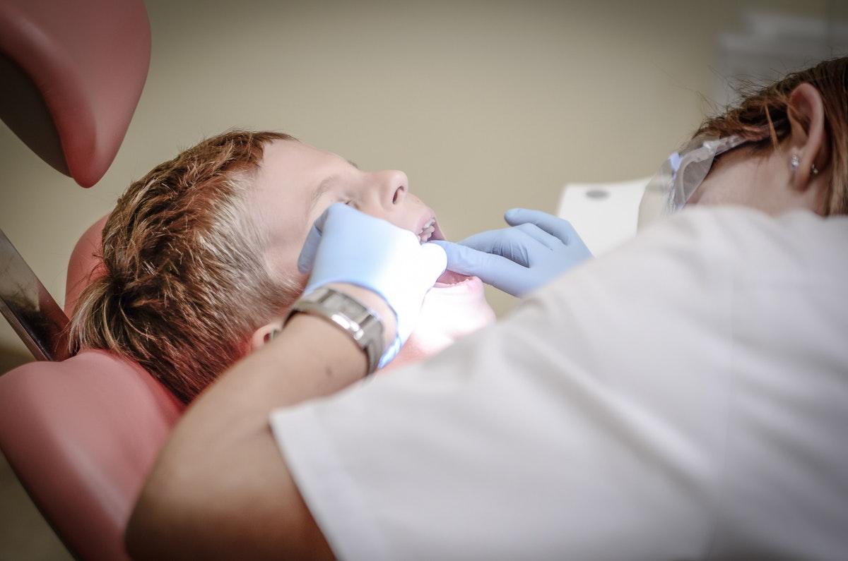 child having a dental check up